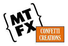 MTFX - Confetti Creations Special Effects Logo