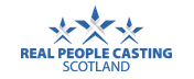 Real People Casting Scotland. Logo