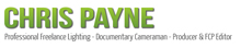 Chris Payne Lighting Cameraman Logo
