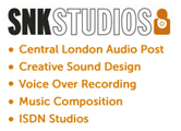 SNK Voice Over Recording Studios London Logo