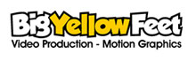 Big Yellow Feet Video Production Logo
