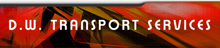 DW Transport Services (Covered Car Transport for film) Logo