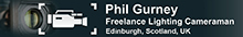 Phil Gurney Lighting Cameraman Scotland Logo
