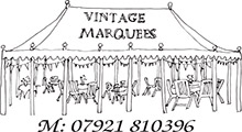 Vintage Marquees Hire for film|television Logo