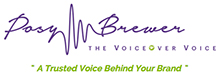 Posy Brewer British Female VoiceOver Artist Logo