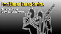 Jeremy Irving Front Element Camera Services Cameraman Logo