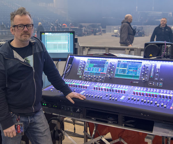 The Script Use dLive System For World Tour - UK Broadcast