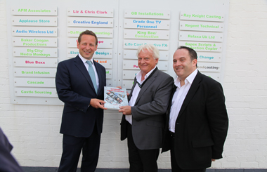Ed Vaizey Takes Tour Of 'Britain's Hollywood'